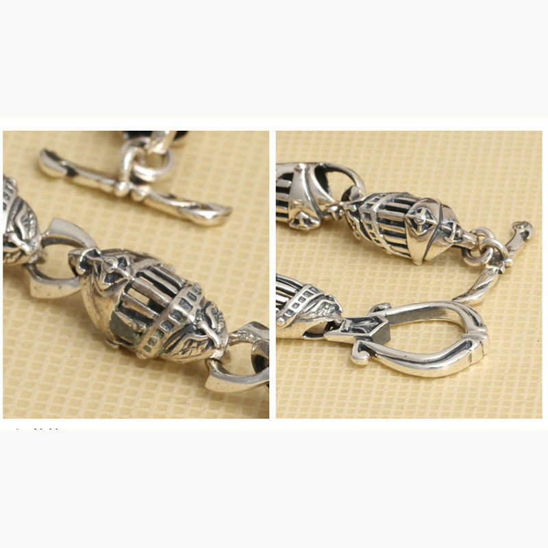 Fine 100% Pure 925 Sterling Silver Bracelets Fashion Hollow Out Classic Sword Knights Helmet Hand Chain Jewelry Charm Bracelet 330 Bracelets & Bangles Jewelry & Accessories
