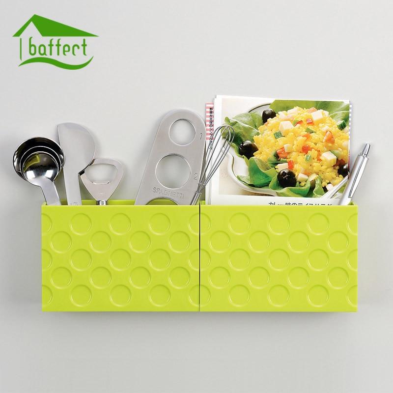 Magnet Storage Box For Kitchen Refrigerator Freezer Food Storage Boxes Pantry Storage Container Space-saving Fridge Storage Box