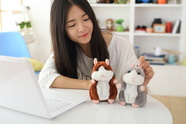 Dropshipping Promotion 15cm Lovely Talking Hamster Speak Talk Sound Record Repeat Stuffed Plush Animal Kawaii Hamster Toys 4