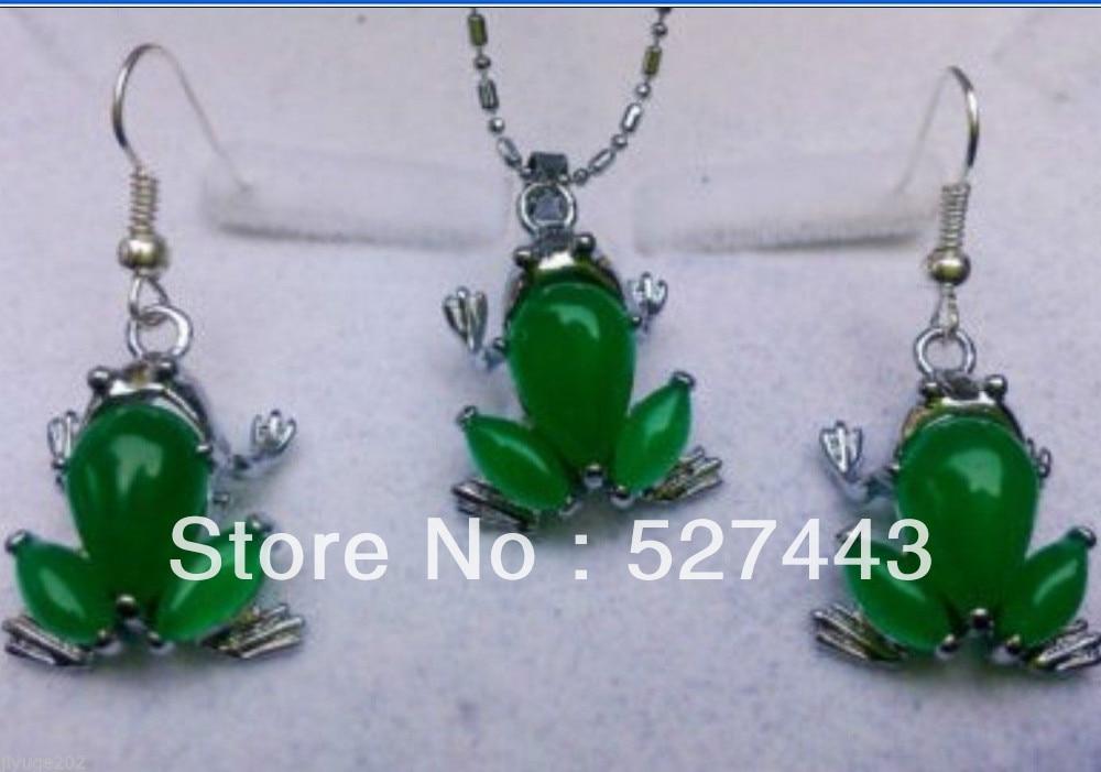 Wholesale free shipping >>Beautiful green stone pendant necklace ...