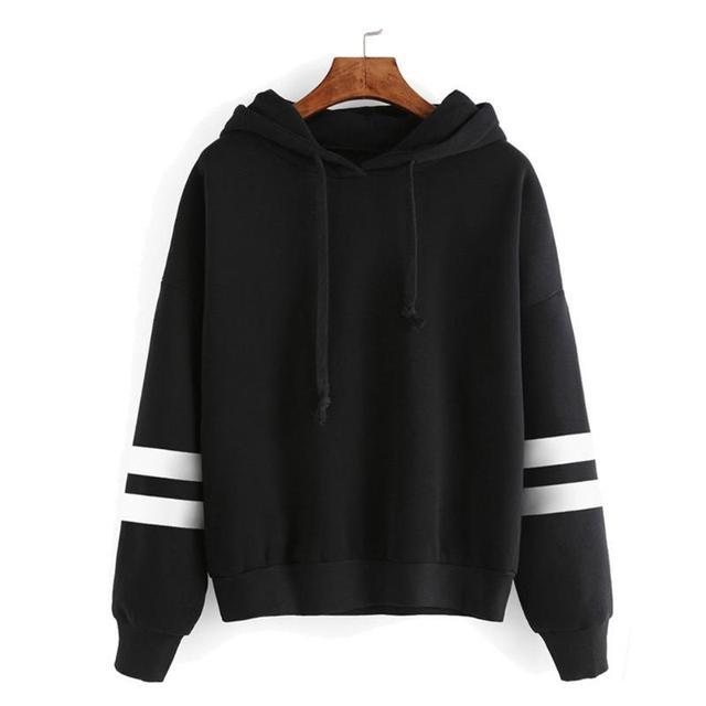 Women Hooded Long Sleeve Pullover Casual Hoodies Warm Sweatshirt