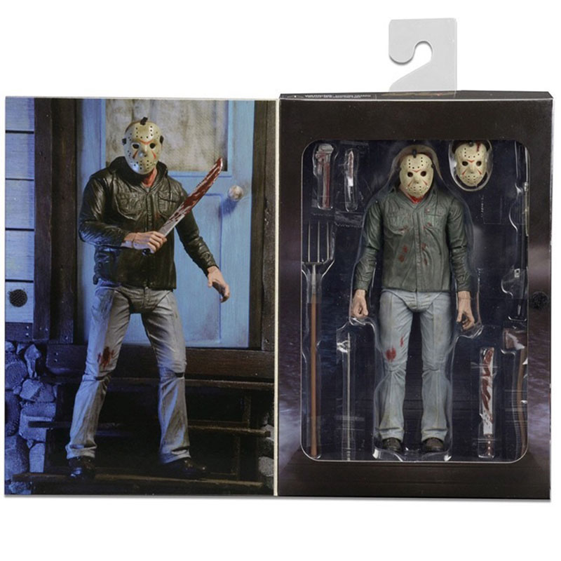 NECA 3D Friday The 13th Part 3 The Final Chapter Jason Voorhees PVC Action Figure Model Doll 18cm (9)