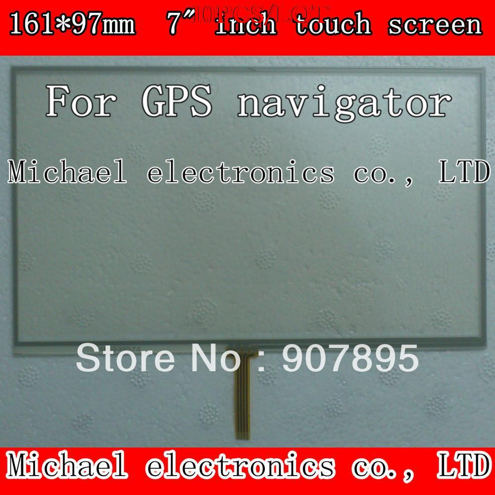 все цены на  10pcS 161X97mm 7inch 4 Wire Resistive touch screen panel  /Digitizer GPS navigator MP4 tablet pc MID noting size and color  онлайн