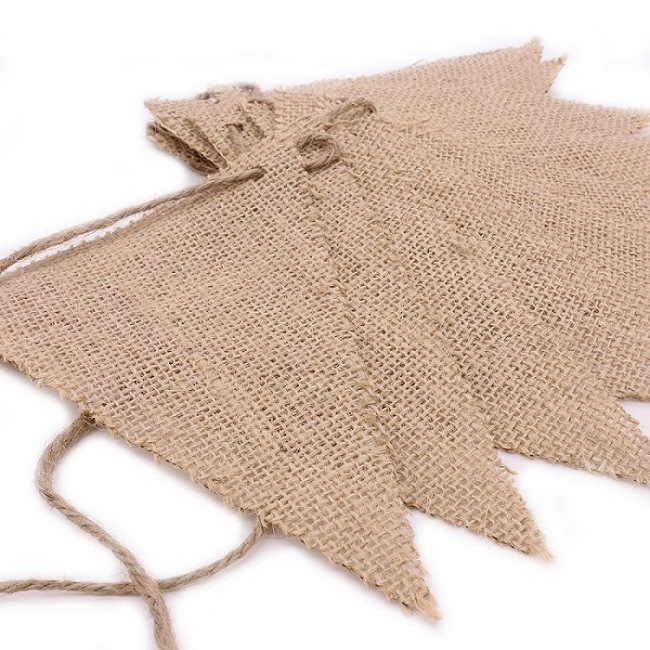 2017 new Vintage Hessian Burlap Banner for Wedding Decor Banner Flags Pennant Birthday Event Party Supplies Photography Props