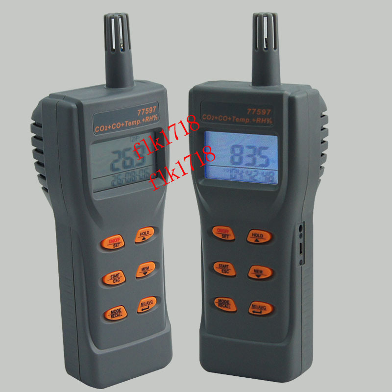 AZ77597 High-precision carbon dioxide detector CO2 CO Detector Tester hygrometer 3-in-1 Gas with temperature and humidity meter portable handheld carbon dioxide detector precision co2 meter high quality gas detector tester