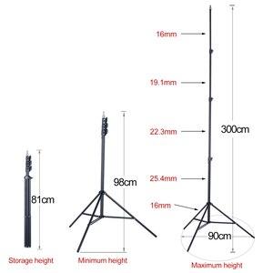 "Image 3 - 3m 2,2 m nivel láser fotografía trípode 1/4 ""interfaz negro soporte de extensión"