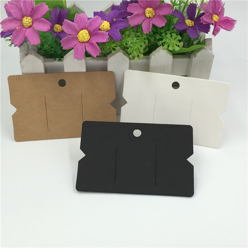 50PCS/Lot Blank Simple Kraft Paper Hairpin Cards Display Packaging Label Cards Rubber Band Headband Jewelry Cards 8.8*5.5cm