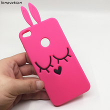 Innovation 3D Cute Rabbit Ear Case For Huawei P8 Lite 2017 Soft Silicon Phone Cases Honor 8 5.2 Girl Cover