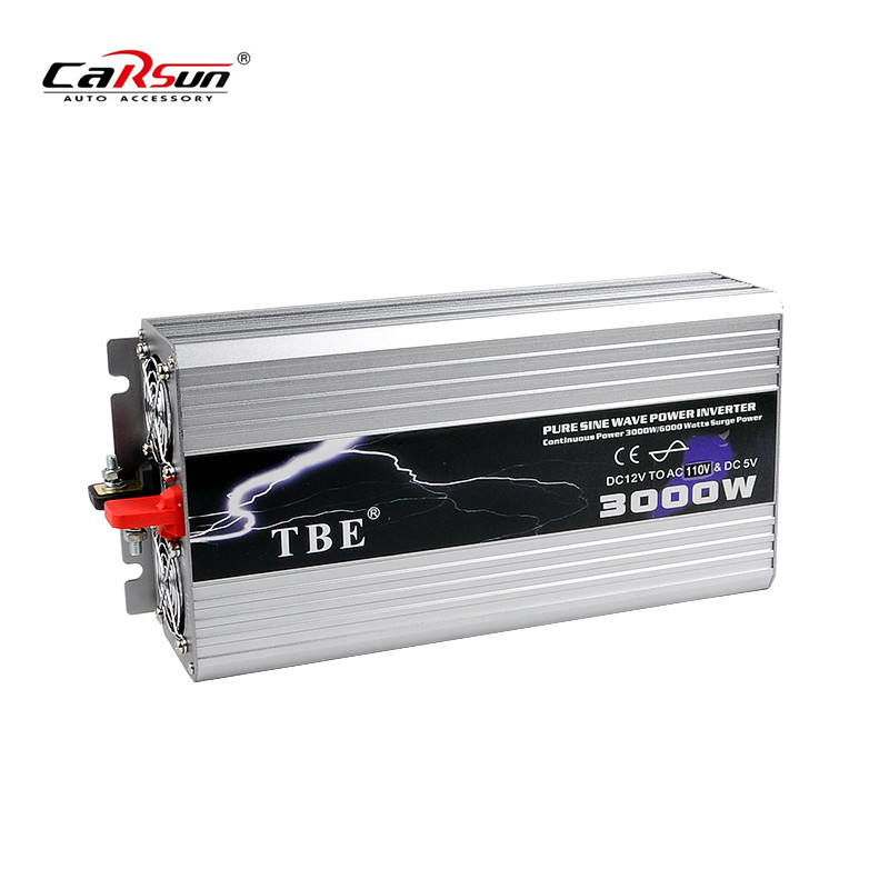 3000W Power Inverter Pure Sine Wave DC 12V to AC 220V Peak Power 6000W Solar Power Inverter Car Converter high efficiency 3000w car power inverter converter dc 12v to ac 110v or 220v pure sine wave peak 6000w power solar inverters