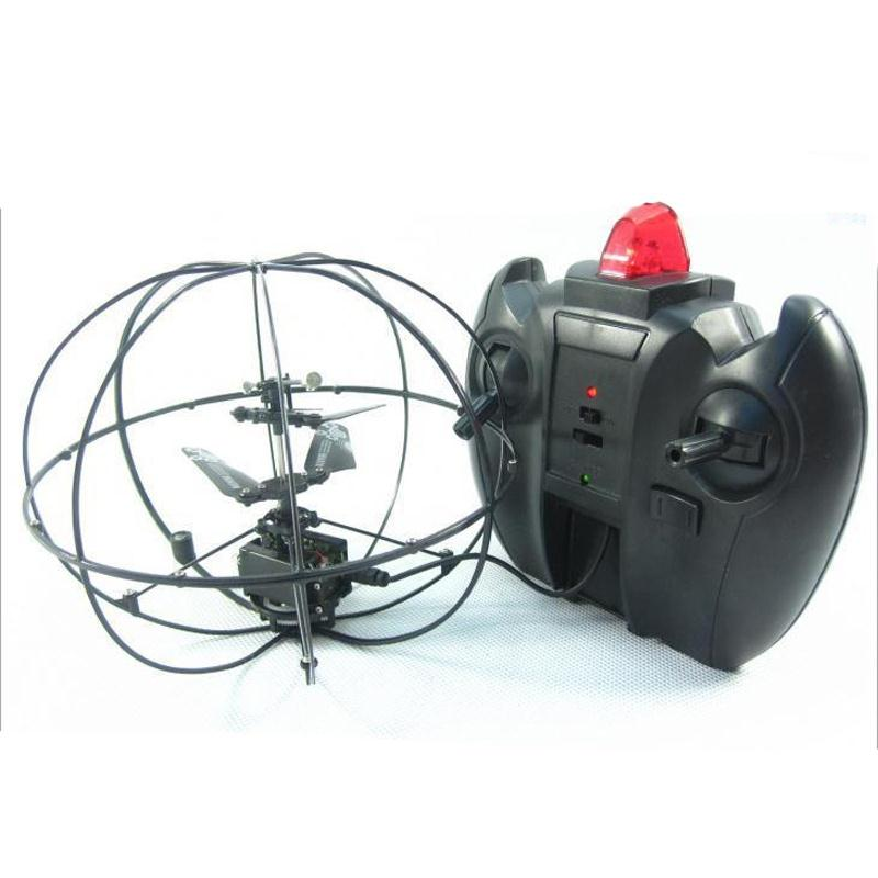 RC Flying Ball Gyroscope Luminous Hand Induction Aircraft Funny Gadgets RC Heli Ball Drone Helicopter Black