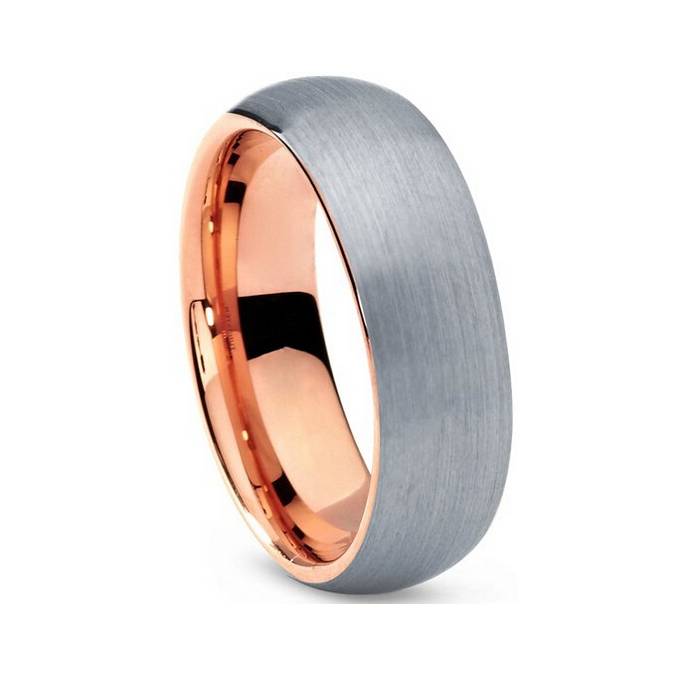 buy very nice wedding band tungsten carbide ring rose gold plated ring with all. Black Bedroom Furniture Sets. Home Design Ideas