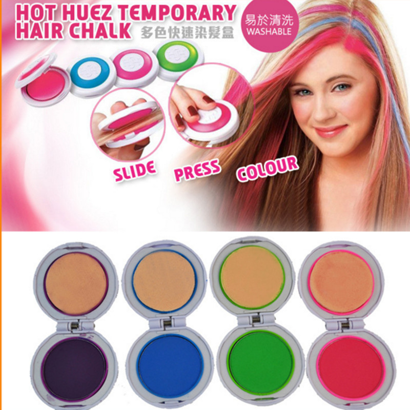 Hot Sale Hair Chalk Powder 4 Colors Round Shape Temporary