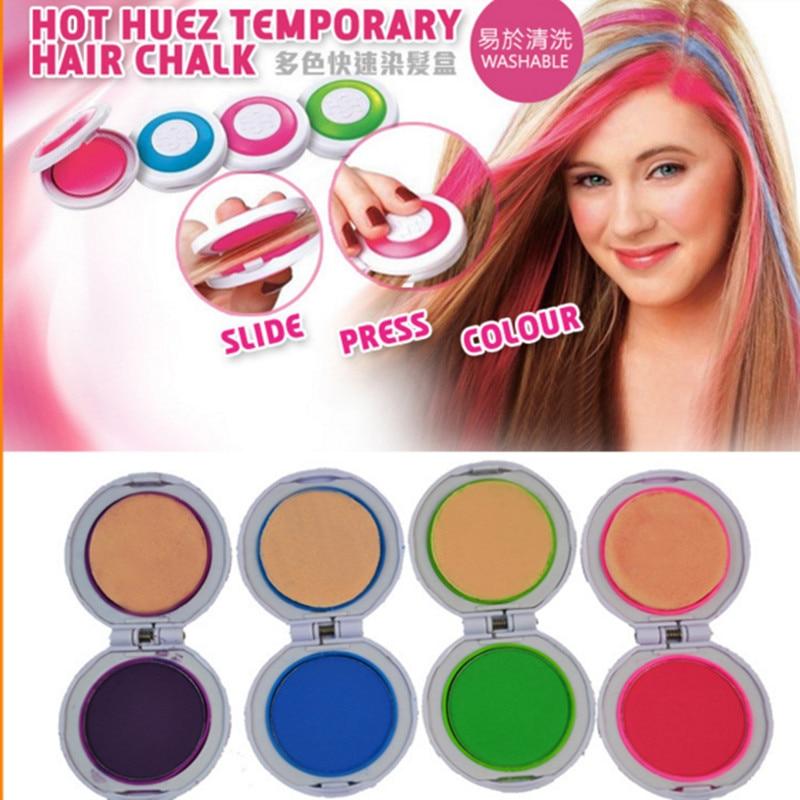 Hot Sale Hair Chalk Powder 4 Colors Round Shape Temporary