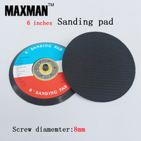 6 Inches Polishing Sponge Sanding Pad With M8 Screw Shank For Car Floor Wax Seal Glair