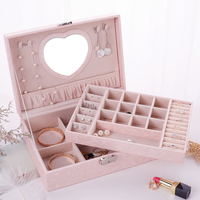 5 Colors Jewelry Storage Boxes Leather Cosmetic Bag Earrings/Ring/Watches/Bracelets/Accessories Box Present Square Gift Box Case