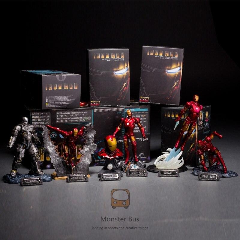 Les Avengers Super héros Marvel jouets chauds Iron Man Tony Stark 1/20 échelle buste Deluxe lot de 6 avec bataille endommagé MK6/3 PVC