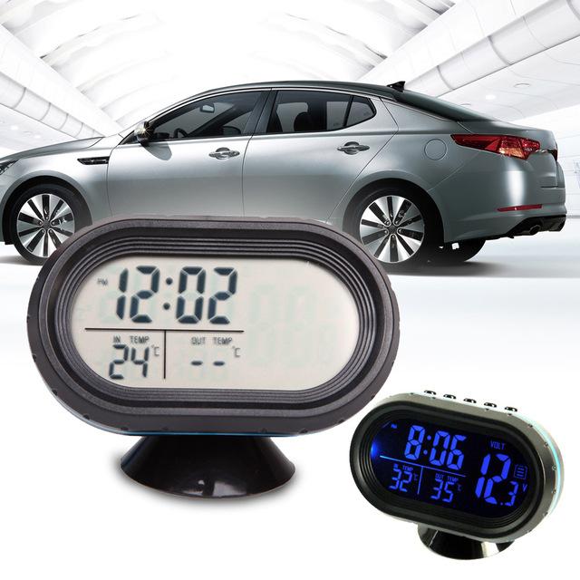 12-24 V Car Battery Monitor Voltímetro Azul Termômetro Digital Dual Display 2 Em 1 À Prova D' Água de Alta Qualidade