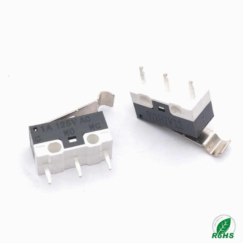 Switches Flight Tracker 100pcs Limit Microswitch With Three Straight Legs Mouse Side Key Momentary Micro Limit Switch 1a/125vac