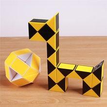 Original Speed Magic Cube Snake Puzzle Ruler Twist  24 Blocks Educational Funny Toys  For Children