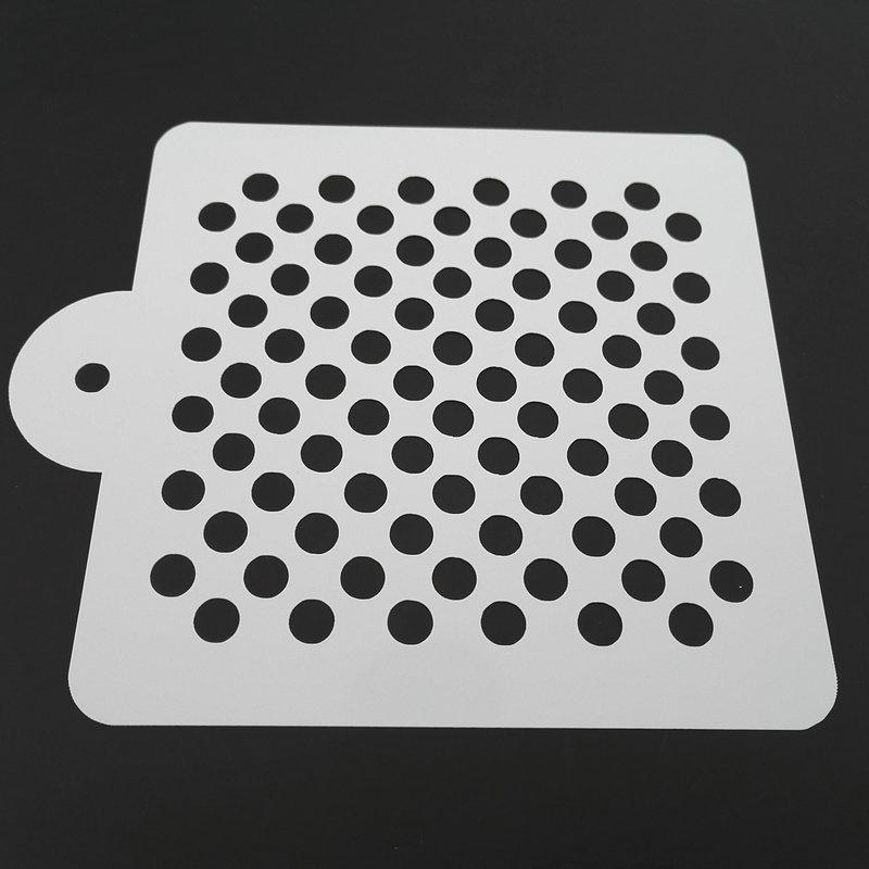 5 ინჩიანი Polka Dot Cake Stencil Cake Decoration Decoration Paking ინსტრუმენტები ნამცხვრებისთვის სამზარეულოს აქსესუარებისთვის