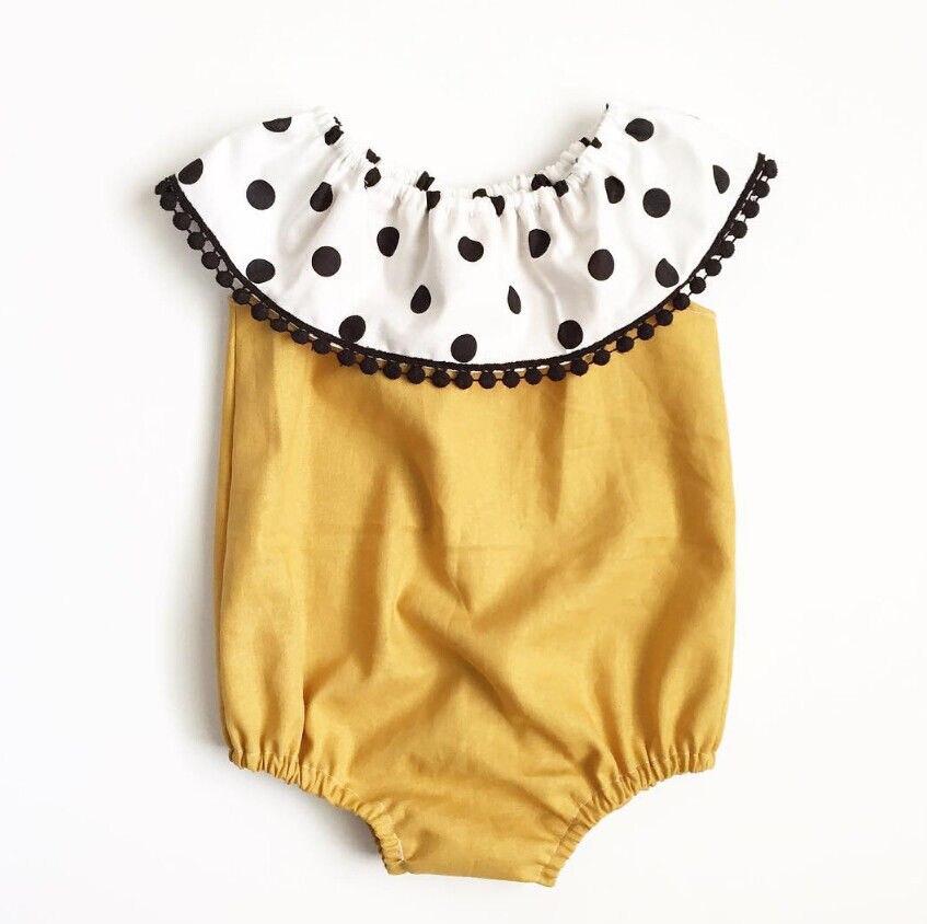 Newborn Infant Baby Girl Clothes Cotton Polka Dot Floral Romper Jumpsuit Outfits Sunsuit Clothes 0-2Y
