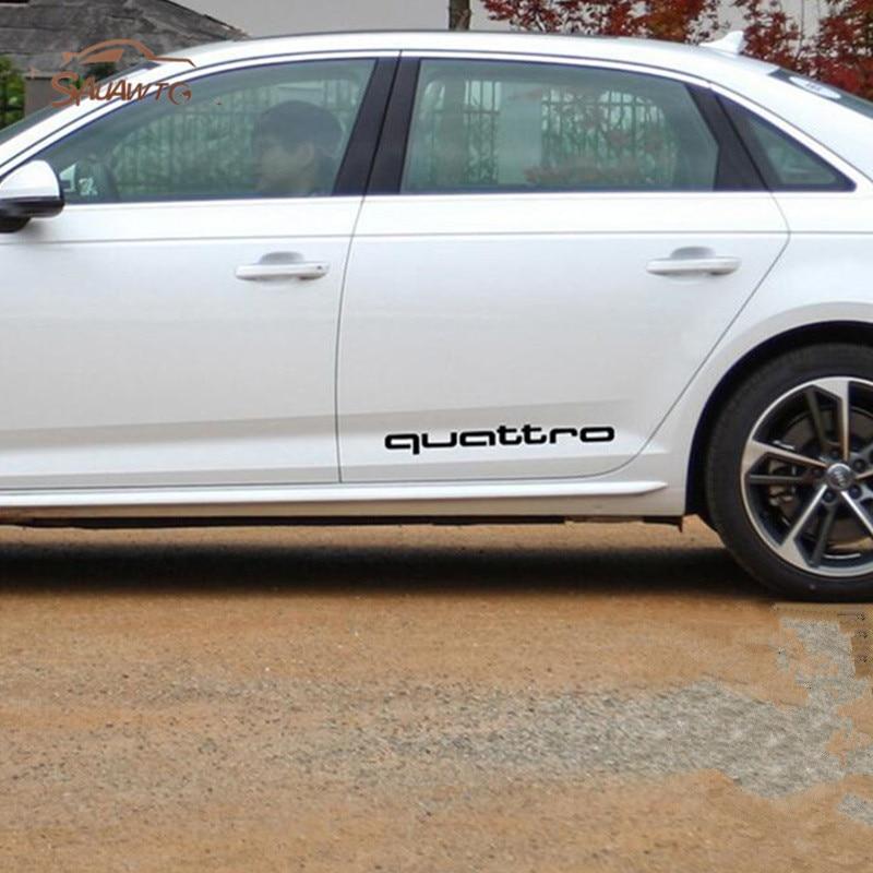 For Audi Quattro A4 A5 A6 A7 A8 TT S4 S3 S5 S6 S7 S8 TT Q3 Q5 7 A1 B5 B6 B7 B8 C5 C6 Decal car sticker Sport Racing emblem logo 2 pcs car side door sline s line fender emblem decal sticker for audi a1 a3 a4 a5 a6 a7 a8 q5 q7 r8 s4 s5 s6 s7 s8 tt