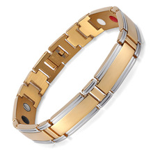 все цены на Stainless Steel Intermetallic Magnet Bracelet Germanium Anion Element Bracelet Jewelry