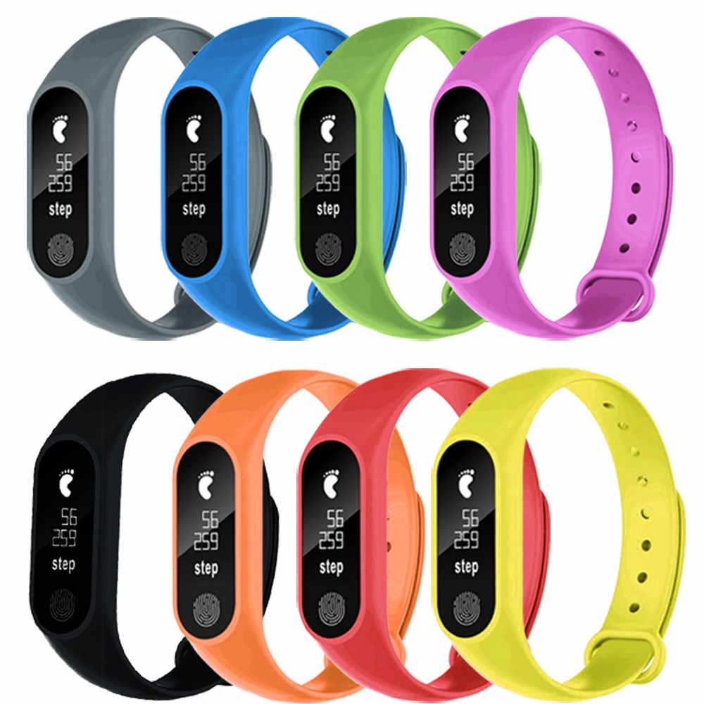 2019 Top Verkauf 1PC Bluetooth 4,0 M2 Sport Pedometer Smart Armband Herz Rate Bluetooth 4,0 Smart Uhr Reloj inteligente #38