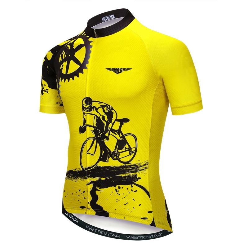 Dropwow Bike team 2018 women men yellow spandex Cycling jersey tops ... 446504f4f