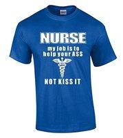 Nieuwe Stijl Shirts Verpleegkundige Mijn Taak Is Helpen Uw Ass niet Kus Het T-Shirt Grappig Shirts 100% Katoen Jersey Security T-shirts