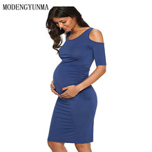 Maternity elasticity dress Summer Sexy Pregnant Woman clothes Short Sleeve Skirt maternity clothes pregnancy dress vestidos summer new sexy deep v collar lace pregnant dress short sleeve long maternity dress clothes photography props tight tail dress