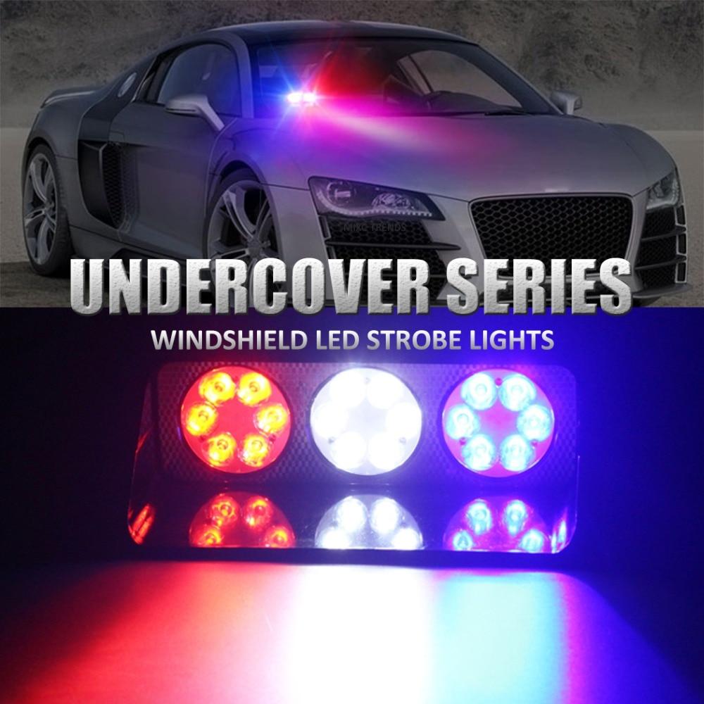 Police Led Lights >> Us 20 53 44 Off Dash Emergency Flashing Light Ambulance Police Led Light Bar For Deck Windshield Warning Light Dashboard Strobe Flash Daylights In
