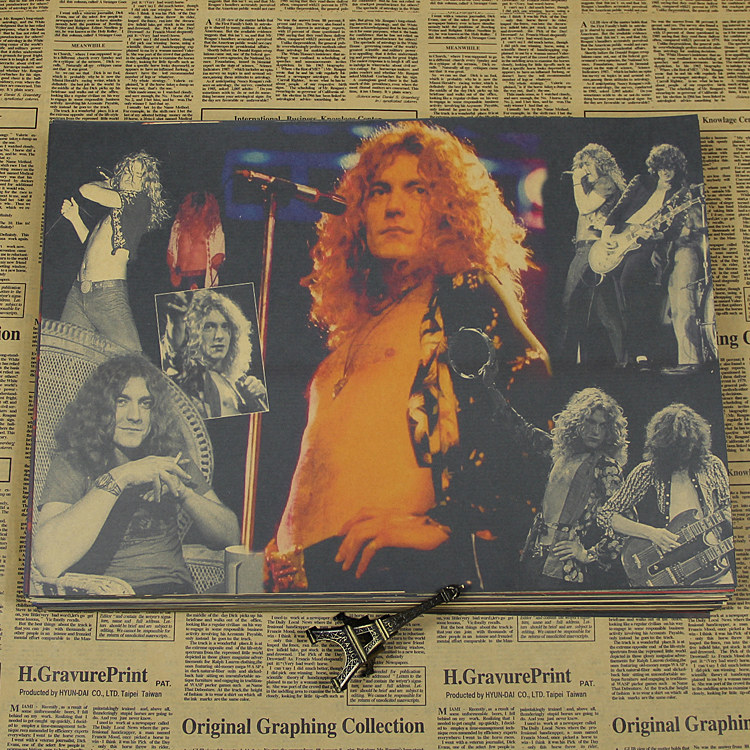 Led zeppelin rock band led zeppelin poster piano decorative wall paper