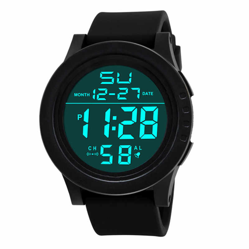 Wavors Waterproof Watch Clock Children Mens LED Digital Watch Alarm Date Silicone Rubber Band Wrist Military Army Sports Watches
