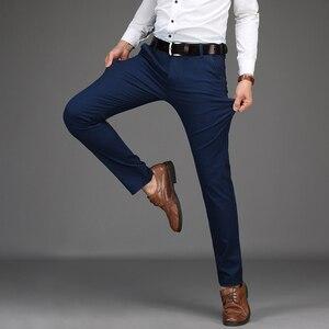 Image 5 - Nouveautés hommes daffaires pantalons décontractés mode pantalon droit coton élastique basique classique mâle mode pantalon grande taille 28 42