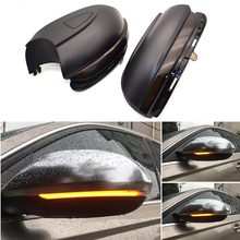 Water Flowing Turn Signal Led Side Wing Rearview Mirror Indicator Blinker Repeater Light For Vw Golf 6 Mk6 Gti R32 08-14 Touran 2 x turn signal lights under side mirror puddle 6 led lights for vw gti golf mk6 6 mkvi 2010 2014