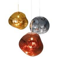 Modern Magic Lava Pendant Lights Tom Dixon Melt Glass Pendant Lamp Parlor Melt Hanging Lamp E27 Creative Bedroom Hanglamp decor