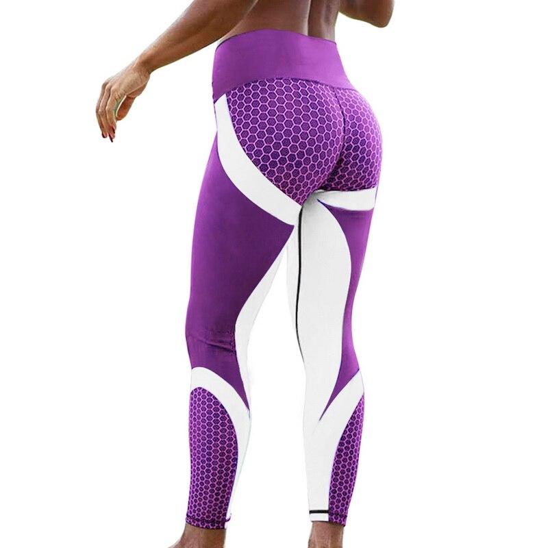 Vertvie Honeycomb Printed Yoga Pants Running Gym Sport Leggings Tights Leggins Women Yoga Pant Push Up Fitness Legging Trouser Лосины