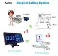 K-4-Cblue + W2-H 5 pcs Botão de Chamada Branco e 1 pc Receptor Exibição DHL Frete Grátis Sem Fio Chamada de Enfermeira do Hospital Sistema de sino