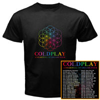 Coldplay World Tour Dates 2017 New Black White T Shirt Men Women Short Sleeve Funny T