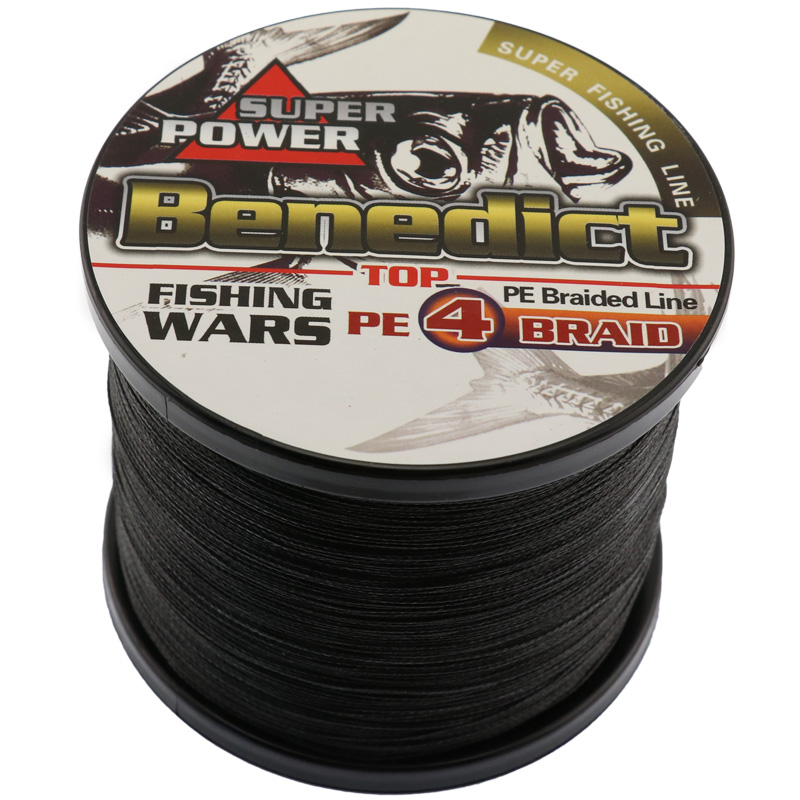 Fishing product 1000m pe super strong braided fishing line for Black braided fishing line