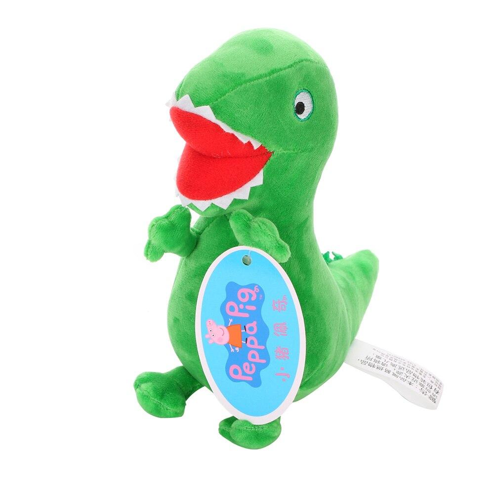 Оригинальные 19 см Свинка Пеппа Джордж Животные Мягкие плюшевые игрушки мультфильм семья друг свинка вечерние куклы для девочек детские подарки на день рождения - Цвет: Dinosaur