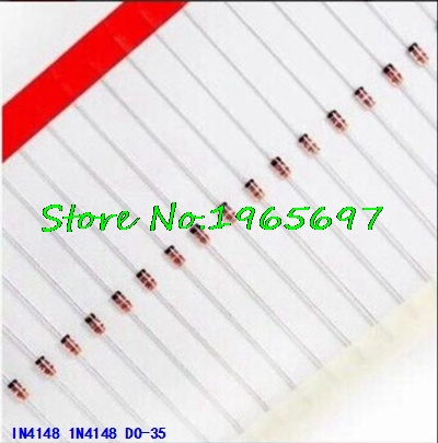 100pcs/lot 1N4148 IN4148 DO-35 High-speed Switching New Original In Stock