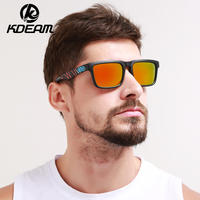 KDEAM Sport Sunglasses Men Polarized HD Lens Zonnebril Mannen Square Sun Glasses Women Eyewear 11 Colors