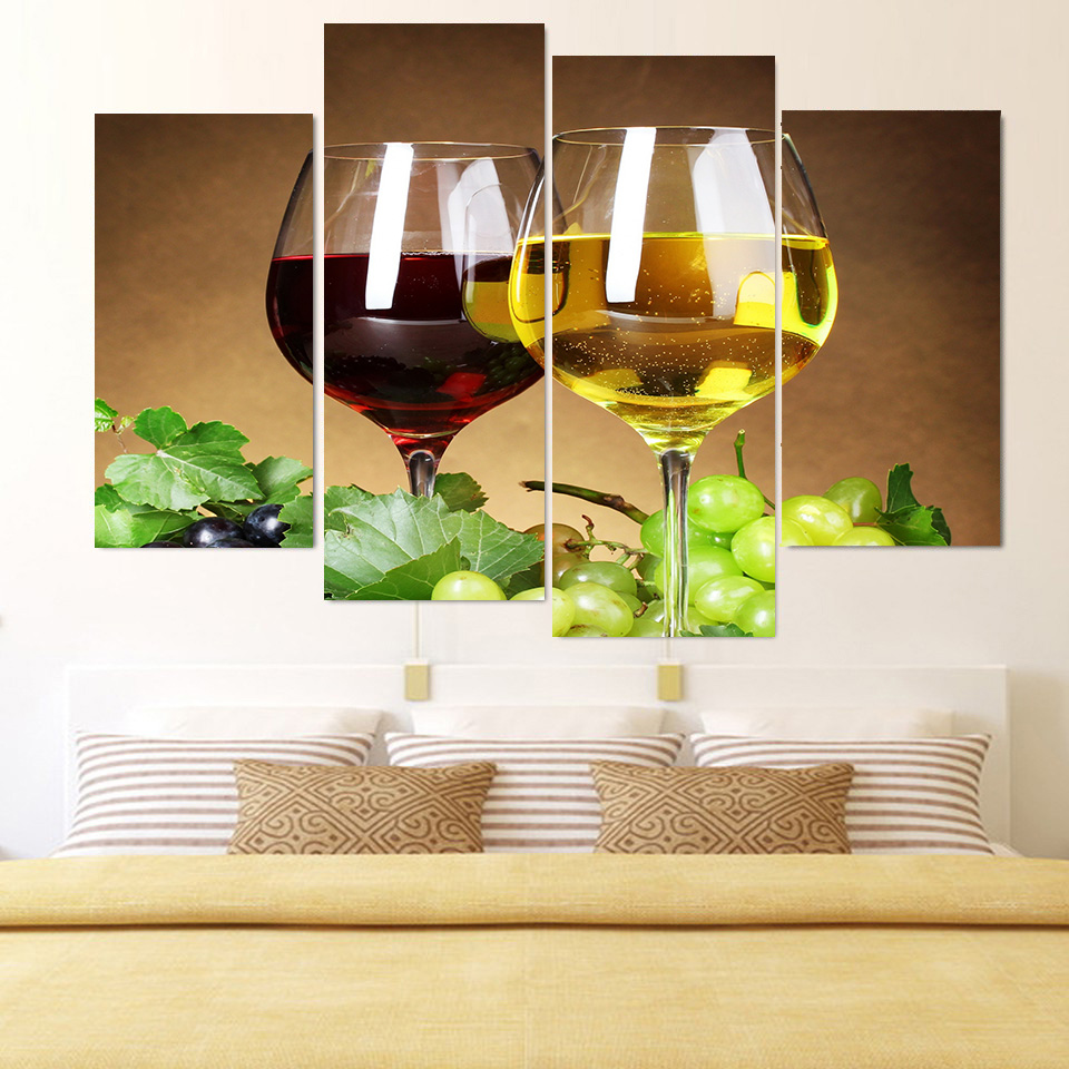 Modern Metal Wine Glass Wall Art Ornament - The Wall Art Decorations ...