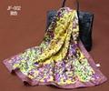 2015 Silk Square Scarf Women Fashion Brand High Quality Butterfly Silk Satin Scarves Polyester Shawl  Big Size 90x90cm FJ002