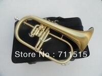 전문 트럼펫 악기 녹색 청동 bb flugelhorn 모넬 밸브 닦았 황동 trompeta