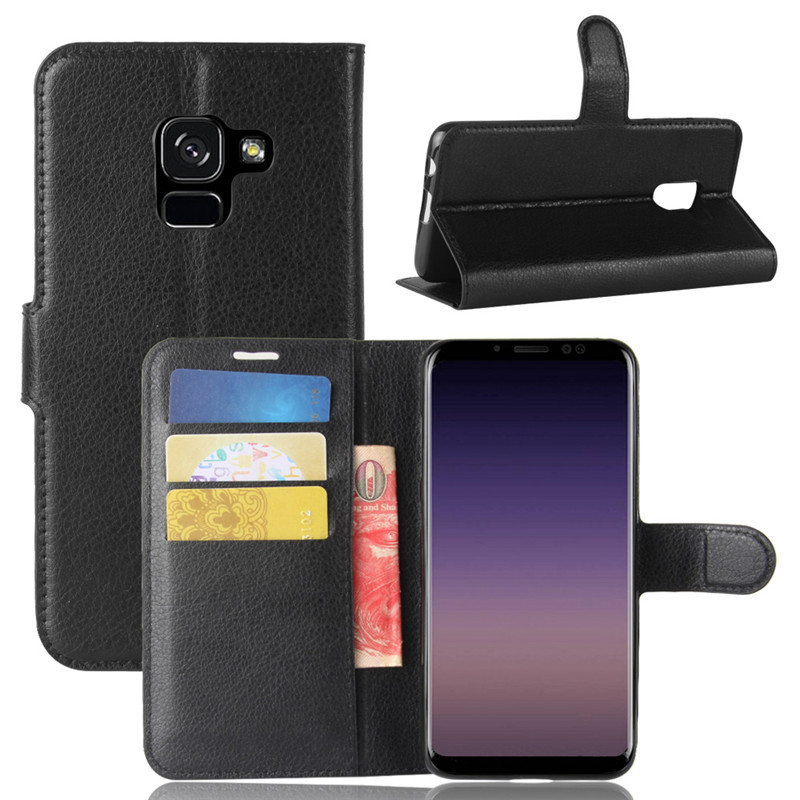 For Samsung Galaxy A8 A8+ A8 Plus 2018 Case Retro Leather Magnetic Wallet Book Flip Phone Case On For Samsung A8 Plus 2018 Cover