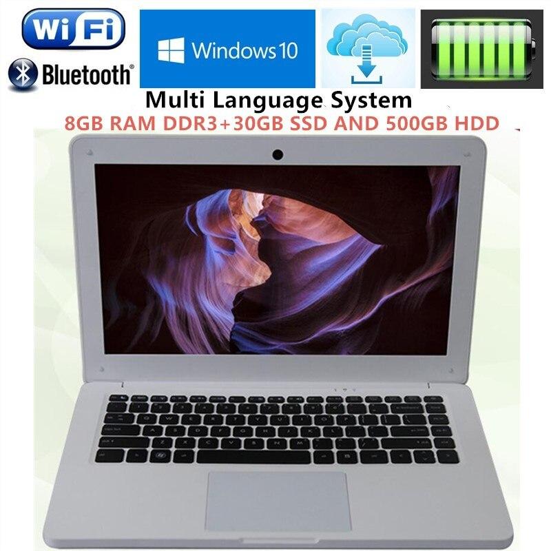 8GB RAM+500G HDD+30G SSD 13.3inch win10 laptops Computer PC Intel Core i3 3227u 1.9GHZ Dual-Core WIFI HDMI WEBCAM Slim Ultrabook ноутбук windows 8 ultrabook qtech 116g 12 intel 4 azerty hdd 500g qt116g