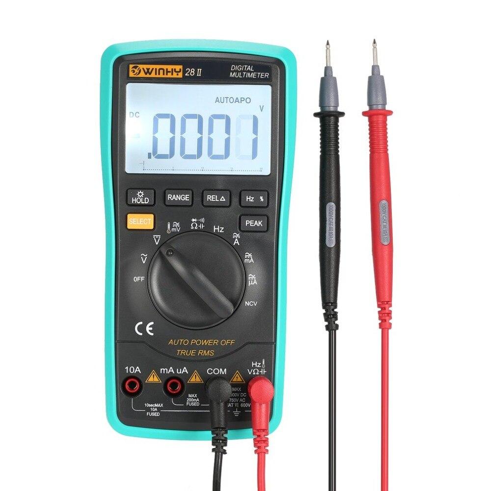 28II 20000 Counts Digital Multimeter True RMS AC/DC Volt Amp Ohm Capacitance Temperature Diode NCV Continuity Testing Meter
